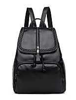 cheap -Women Bags PU Backpack Zipper for Casual Outdoor Winter Fall Black