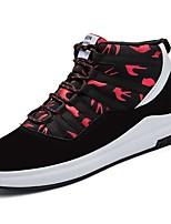 Недорогие -Для мужчин обувь Полиуретан Весна Осень Удобная обувь Кеды для Повседневные Черно-белый Черный/Красный