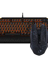 baratos -Dareu com fio teclado mecânico mouse sem fio azul muda quatro teclas 1600dpi