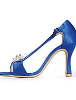 economico -Da donna Scarpe Seta Primavera Estate Decolleté scarpe da sposa A stiletto Punta chiusa Con diamantini Perle di imitazione per Matrimonio
