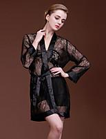 cheap -Women's Ultra Sexy PajamasSexy Lace Solid Jacquard Polyester Imitation Silk Camel Blushing Pink Black