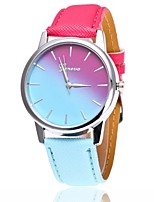 cheap -Women's Fashion Watch Dress Watch Wrist watch Chinese Quartz Casual Watch PU Band Casual Blue Red Pink Fuchsia