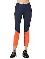 preiswerte -Damen Enge Laufhosen Dehnbar Strumpfhosen/Lange Radhose Leggins Yoga Rennen Übung & Fitness Polyester Eng Schwarz S M L XL