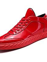 Недорогие -Для мужчин обувь Искусственное волокно Зима Светодиодные подошвы Кеды для Повседневные Черный Красный