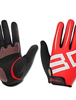 Sports Gloves Bike Gloves / Cycling Gloves Wearable Breathable Full-finger Gloves Silicon Fiber Lycra Mountain Cycling Road Cycling