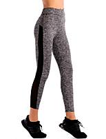 preiswerte -Damen Sportlich Mittel Polyester Patchwork Genähte Spitzen Legging,Grau