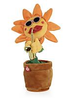 preiswerte -tanzende Blume bezaubernde Sonnenblume mit weichem angefülltem Plüsch des Saxophons spielt lustige elektrische Spielwaren für Kindergeschenk