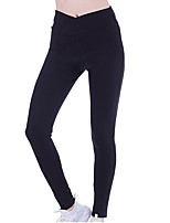 cheap -Women's Running Tights Pants / Trousers for Yoga Running/Jogging Pilates Polyester Blushing Pink Black White XL L M S