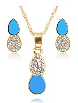cheap -Women's Jewelry Set Pendant Necklace Simple Fashion Wedding Daily Gold Plated 1 Necklace Earrings