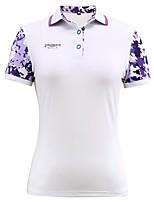 economico -Per donna Manica corta Golf T-shirt Top Allenamento Traspirabilità Golf
