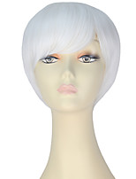 cheap -Women Synthetic Wig Short Straight White Lolita Wig Party Wig Halloween Wig Carnival Wig Cosplay Wig Natural Wigs Costume Wig