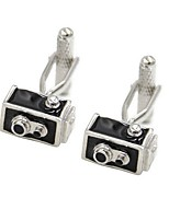 Geometric Black Cufflinks Alloy Fashion Christmas Gift Men's Costume Jewelry