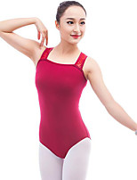 cheap -Ballet Leotards Women's Performance Cotton Pleated Sleeveless Natural Leotard