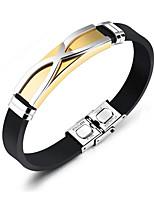 Недорогие -Муж. ID браслеты Браслет , Рок Мода Сталь силикагель Титан Геометрической формы , Бижутерия Повседневные Для улицы