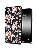 baratos -Capinha Para Apple iPhone X iPhone 8 Plus Estampada Capa traseira Flor Macia TPU para iPhone X iPhone 8 Plus iPhone 8 iPhone 7 Plus