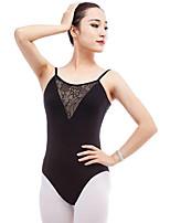 abordables -Ballet Leotardos Mujer Actuación Algodón Combinación Sin mangas Cintura Media Leotardo