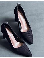 Недорогие -Для женщин Обувь Нубук Весна Осень Удобная обувь Обувь на каблуках На толстом каблуке для Повседневные Черный Хаки