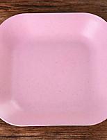 Недорогие -Платина соломы пшеницы Кормление столовых приборов посуда  -  Высокое качество 18*18*1 0.076