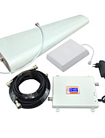 LCD Display 3G W-CDMA UMTS 2100MHz 4G LTE FDD 2600MHz Mobile Phone Signal Booster 3G 4G Signal Repeater Amplifier Full Set/White