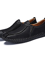 cheap -Men's Shoes PU Spring Fall Comfort Loafers & Slip-Ons for Casual Khaki Light Brown Black