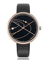abordables -Mujer Reloj Casual Reloj de Moda Japonés Cuarzo Reloj Casual PU Banda Casual Elegant Negro Azul Gris Trébol