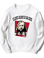 cheap -Sandor Clegane Ugly Christmas Sweater / Sweatshirt Male Festival / Holiday Halloween Costumes Cyan Gray White Black Letter
