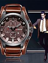 Недорогие -Муж. Повседневные часы Модные часы Наручные часы Китайский Кварцевый Повседневные часы Крупный циферблат Кожа Группа На каждый день Cool