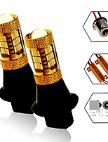 cheap -2 PCS Corsa LED 27W Amber White Colors Turn Signal Light DRL Function BA15S 1156 T20 7443 Socket Optional