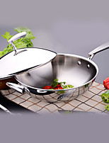 cheap -Stainless Steel Stainless Steel Flat Pan Multi-purpose Pot,32*9.3