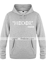 Hodor Ugly Christmas Sweater / Sweatshirt Male Festival / Holiday Halloween Costumes Red White Black Letter