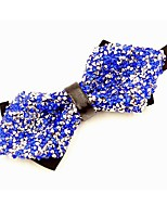 cheap -Men's Cotton Bow Tie,Vintage Party Crystal/Rhinestone All Seasons Royal Blue
