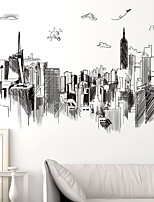 cheap -Architecture Wall Stickers Plane Wall Stickers Decorative Wall Stickers,Paper Home Decoration Wall Decal Wall