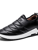 cheap -Men's Shoes Leatherette Winter Fall Fluff Lining Comfort Loafers & Slip-Ons for Casual Office & Career Brown Black