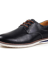 cheap -Men's Shoes Cowhide Winter Fall Comfort Oxfords for Casual Royal Blue Brown Black