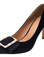 cheap -Women's Shoes Fabric Spring Fall Basic Pump Heels Stiletto Heel Pointed Toe Buckle for Party & Evening Dress Light Pink Black