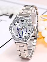 abordables -Mujer Reloj Casual Reloj de Moda Reloj de Pulsera Chino Cuarzo Reloj Casual Aleación Banda Lujo Casual Elegant Plata Dorado Oro Rosa