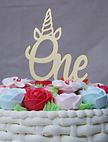 cheap -Cake Topper Holiday New Baby Birthday Acrylic Euramerican Carved Plastic Anniversary Birthday with Acrylic Trim 1 OPP