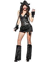 abordables -Gato Una Sola Pieza Vestidos Disfrace de Cosplay Guantes Sombreros Mujer Halloween Carnaval Año Nuevo Festival / Celebración Disfraces de
