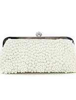 cheap -Women Bags Silk Evening Bag Pearl Detailing for Event/Party All Season Black White Champagne