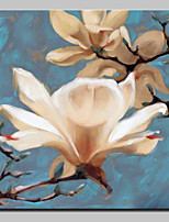 cheap -Hand-Painted Floral/Botanical Square,Modern Canvas Oil Painting For Home Decoration One Panel