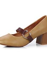 economico -Da donna Scarpe PU (Poliuretano) Primavera Autunno Comoda Tacchi Heel di blocco per Casual Nero Rosa Cammello