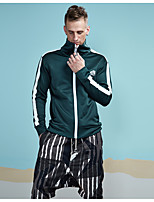 cheap -Men's Sweatshirt - Solid Striped, Print