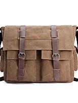 cheap -Unisex Bags Canvas Crossbody Bag Pockets for Casual All Season Black Gray Coffee