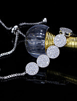 abordables -Mujer Cadenas y esclavas Diamante sintético Brillante Plateado Joyas Boda Fiesta