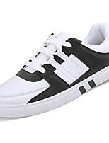 cheap -Men's Shoes Rubber Spring Fall Comfort Sneakers Walking Shoes Booties/Ankle Boots Ribbon Tie for Outdoor Black/White Black White