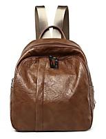 Недорогие -Женский Мешки Полиуретан рюкзак Молнии для на открытом воздухе Все сезоны Коричневый Черный