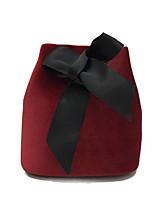 cheap -Women Bags Velvet Shoulder Bag Bow(s) for Outdoor All Season Wine Gray Military Green Black