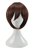 cheap -Men Synthetic Wig Short Straight Brown Layered Haircut Cosplay Wig Costume Wig