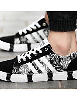Недорогие -Для мужчин обувь Полотно Весна Осень Удобная обувь Кеды для Повседневные Черный