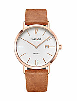 cheap -Men's Casual Watch Fashion Watch Dress Watch Japanese Quartz Calendar / date / day Large Dial Leather Band Casual Elegant Cool Brown Khaki